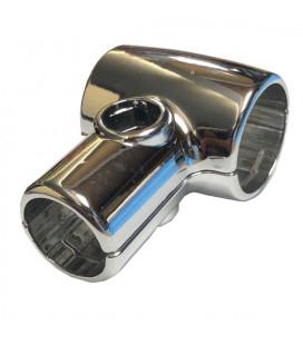 GIUNTO A T RIDUTTORE PER TUBO D. 25/32 mm CROMA