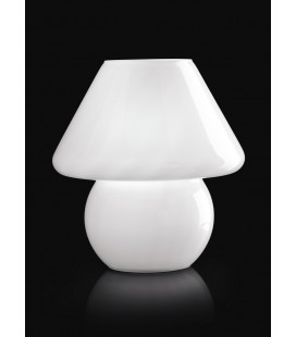 LAMPADA DA TAVOLO LUMETTO VETRO RIGADIN OPALE E27